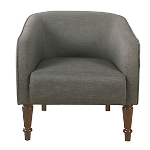 HomePop Tradional Barrel Chair - Gray, Gray, rollover