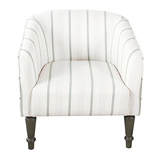 HomePop Tradional Barrel Chair - Dove Gray Stripe, , rollover