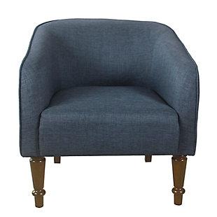 HomePop Traditional Barrel Chair - Navy Blue, , rollover