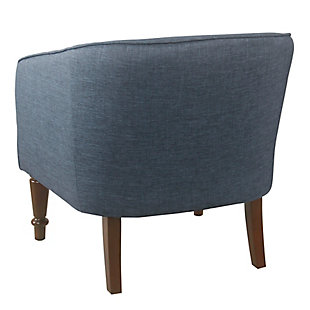 HomePop Traditional Barrel Chair - Navy Blue, Blue, large