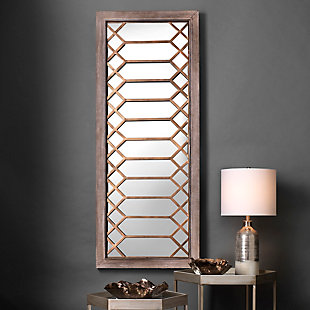 Jamie Young Lucille Mirror in Antique Grey Wood, , rollover