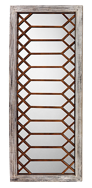 Jamie Young Lucille Mirror in Antique Grey Wood, , large
