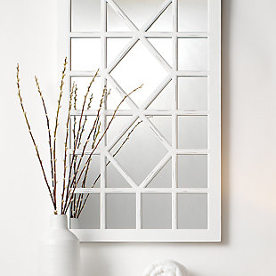 Jamie Young Virginia Mirror in Ivory Painted Wood, , rollover