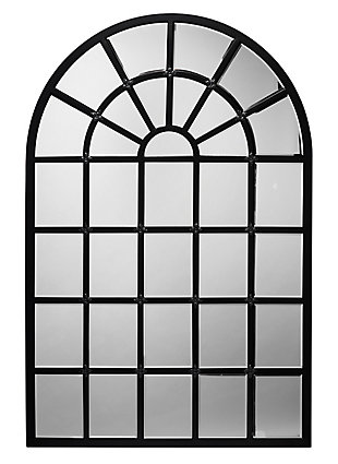 Jamie Young Harlem Mirror in Black Metal and Beveled Glass, , large