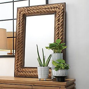 Jamie Young Rectangle Jute Mirror, , rollover