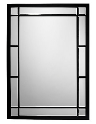 Jamie Young Chelsea Mirror in Black Metal and Beveled Glass, , large