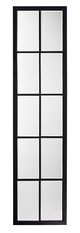 Jamie Young Linear Metal Grid Mirror with Paned Beveled Glass, , large
