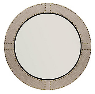 Jamie Young Cait Linen Round Mirror, , large