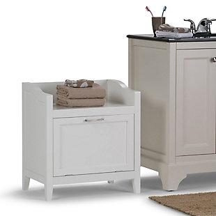 Simpli Home Avington 24.2 inch H x 21.7 inch W Storage Hamper Bench, , rollover
