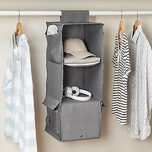 Honey Can Do Hanging Closet Organizer with Three Shelves, , rollover