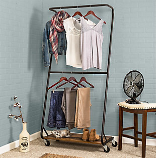 Honey Can Do Z-Frame Double Bar Garment Rack, , rollover
