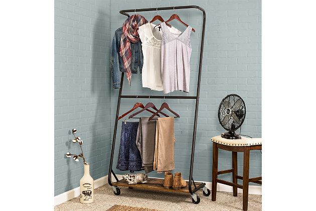 Honey Can Do Z-Frame Double Bar Garment Rack, , large