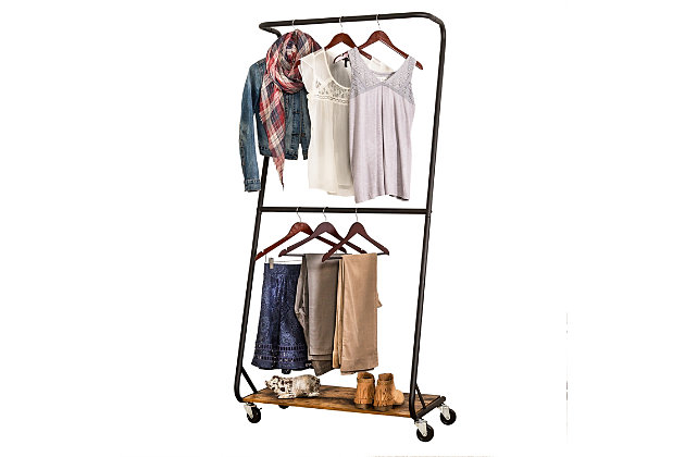 Honey Can Do Z-Frame Double Bar Garment Rack, , large
