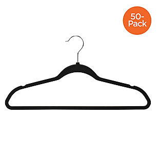 Honey Can Do Rubber Hangers (Set of 50), Black, large