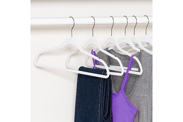 Honey Can Do Rubber Hangers (Set of 50), White, large