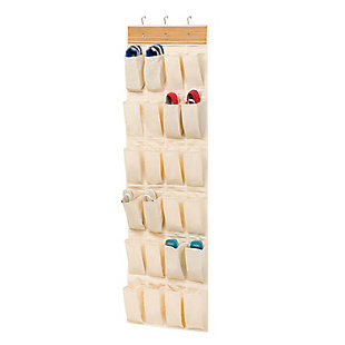 Honey Can Do 24 Pocket Bamboo Shoe Organizer, , rollover