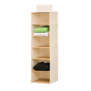 Honey Can Do Six Tier Bamboo Sweater Organizer, , large