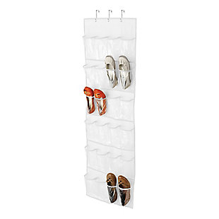 Honey Can Do 24 Pocket Shoe Organizer, White, large