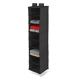 Honey Can Do Hanging Closet Organizer with Eight Shelves, Black, rollover