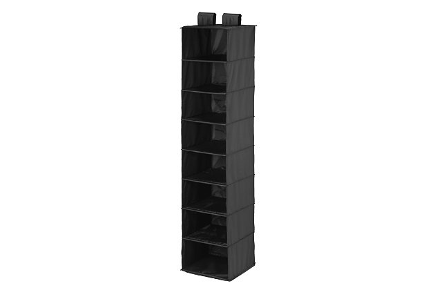 Honey Can Do Hanging Closet Organizer with Eight Shelves, Black, large