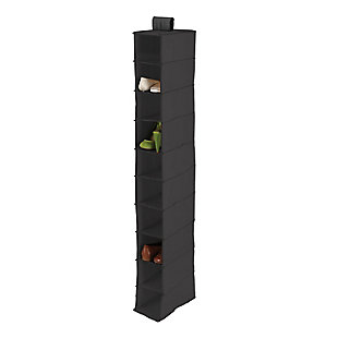 Honey Can Do Hanging Closet Organizer with Ten Shelves, Black, large