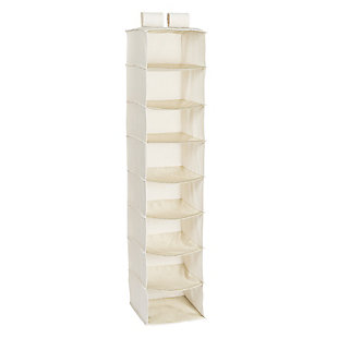 Honey Can Do Hanging Closet Organizer with Eight Shelves, Linen, large