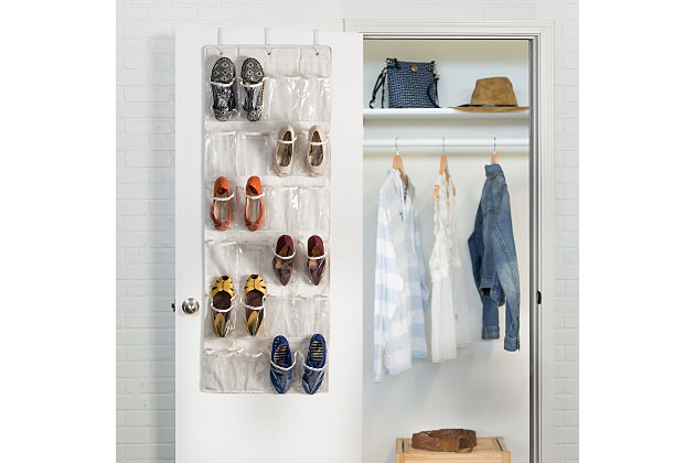 Honey Can Do 24 Pocket Shoe Organizer, Linen, large