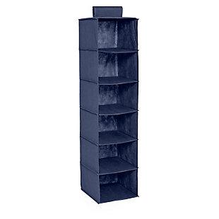 Honey Can Do Hanging Closet Organizer with Six Shelves, Navy, large