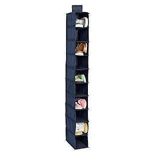 Honey Can Do Hanging Closet Organizer with Ten Shelves, Navy, large