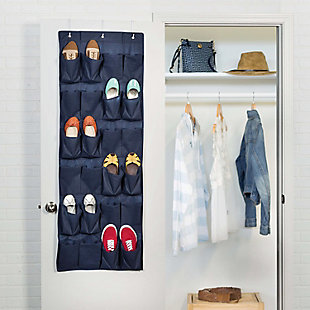 Honey Can Do 24 Pocket Shoe Organizer, Navy, rollover