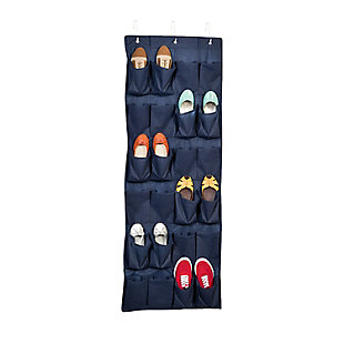 Honey Can Do 24 Pocket Shoe Organizer, Navy, large