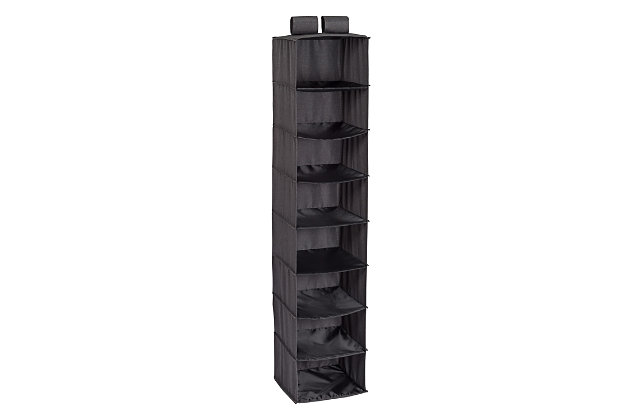 Honey Can Do Hanging Closet Organizer with Eight Shelves, Gray, large