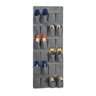 Honey Can Do 24 Pocket Shoe Organizer, Gray, large
