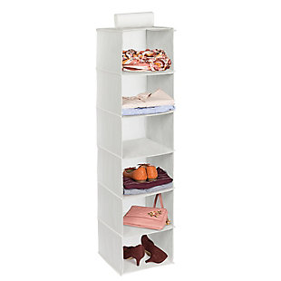 Honey Can Do Hanging Closet Organizer with Six Shelves, White, rollover