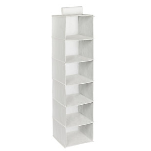 Honey Can Do Hanging Closet Organizer with Six Shelves, White, large