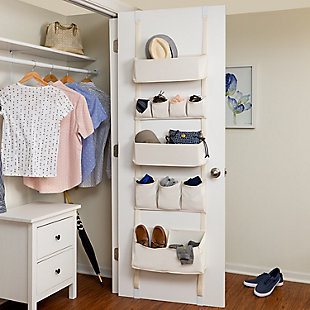 Honey Can Do 10 Pocket Over-The-Door Organizer, , large