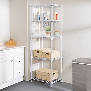 Honey Can Do Five Tier Adjustable Shelving Unit with 250-lb Shelf Capacity, , rollover