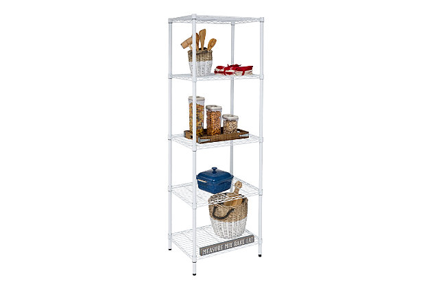 Honey Can Do Five Tier Adjustable Shelving Unit with 250-lb Shelf Capacity, , large