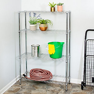 Honey Can Do Four Tier Adjustable Shelving Unit with 250-lb Shelf Capacity, , rollover