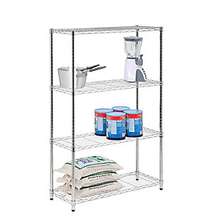 Honey Can Do Four Tier Adjustable Shelving Unit with 250-lb Shelf Capacity, , large