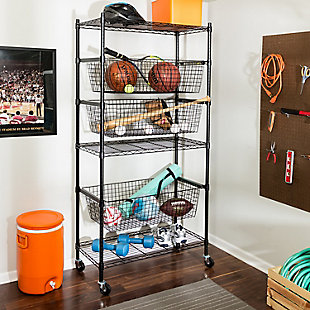 Honey Can Do Sport Eqiupment Storage Rack, , large