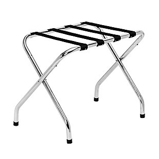 Honey Can Do Collapsible X-Frame Luggage Rack, Chrome, large