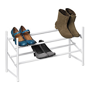 Honey Can Do Two Tier Expandable Shoe Rack, , rollover