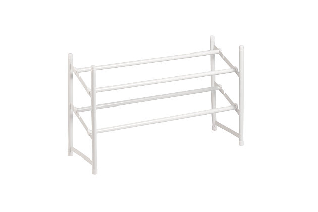 Honey Can Do Two Tier Expandable Shoe Rack, , large