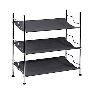 Honey Can Do Three Tier Canvas Shoe Rack, , large