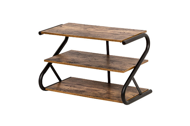 Honey Can Do Z-Frame Three Tier Shoe Rack, , large