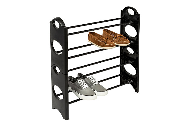 Honey Can Do Four Tier Shoe Rack, , large