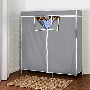 "Honey Can Do 60"" Wardrobe with Cover, , rollover"