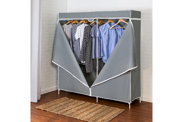 "Honey Can Do 60"" Wardrobe with Cover, , large"