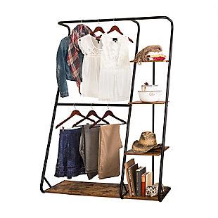 Honey Can Do Z-Frame Wardrobe with Shelves, , large